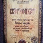 Сертификат Н.Захаровой